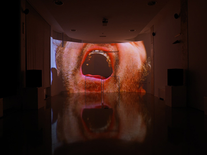 Daniele Puppi, CINEMA RIANIMATO N.3, 2012, audio-visual installation, images from The Shout–a film by Jerzy Skolimowski