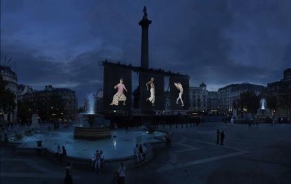Slow Dancing, David Michalek, Trafalgar Square, London, 2010, courtesy the artist