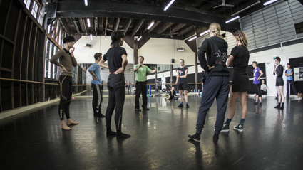 Gideon Obarzanek and Sydney Dance Company dancers in rehearsal