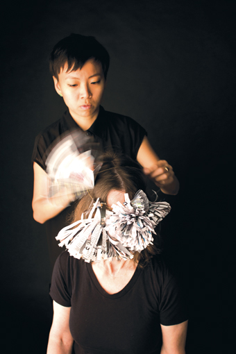 Beatrice Chew at work on the RealTime 121 cover