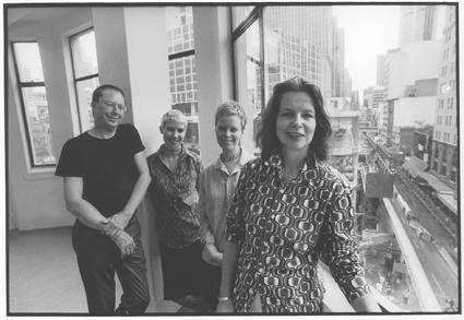 The RealTime team, 1999: Keith Gallasch, Gail Priest, Kirsten Krauth, Virginia Baxter