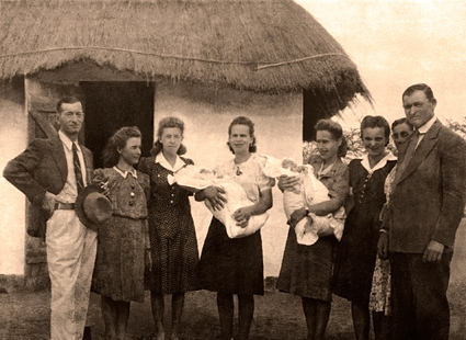 Once My Mother, Helen with newborn Sophia in Lusaka refugee camp