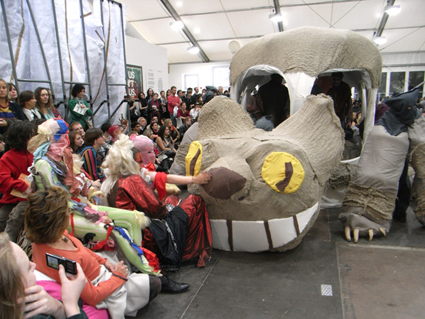 Marvin Gaye Chetwynd, The Cat Bus, A Tax Haven Run by Women, Frieze Art Fair, London 2010