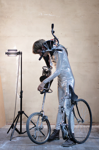 Brenton Alexander Smith, The Bicycle Man, 2013, SCA Bachelor of Visual Arts (Honours); one of a series of photographs and stand-alone sculptures (see page 22)