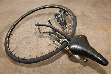 Brenton Alexander Smith, The Bicycle Man, Extension Obstruction, 2013, photo courtesy the artist