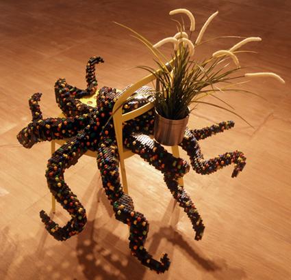 Claire Healy & Sean Cordeiro, Downstairs Dining Room - Octopus, 2014,  part of Habitat,  Rimbun Dahan, Kuala Lumpur