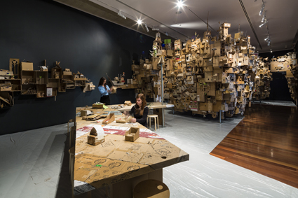 Alfredo and Isabel Aquilizan, In-Habit: Project Another Country, 2014, installation detail, Samstag Museum of Art, University of South Australia