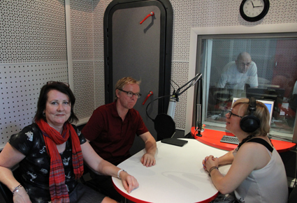 Sonia Leber and David Chesworth with Olga Kalashnikova