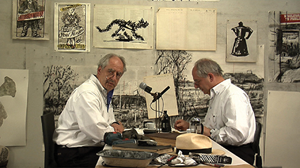 William Kentridge, Drawing Lesson 47 (Interview for New York Studio School) 2010, Single-channel video, colour, sound, 4 min., 48 sec.