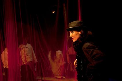 Maude Davey as Everyman, Everyman and the Pole Dancers, Auto Da Fe Theatre