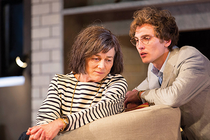 Sarah Peirse and Eamon Farren in Sydney Theatre Company's production of Switzerland