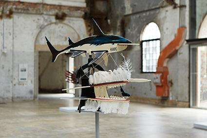 Ken Thaiday Snr. Hammerhead shark (beizam) headdress 2001