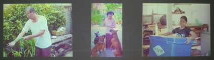 Wit Pimkanchanapong, Family Portrait (2002),<BR /> 3 screens video, loop, Thailand , 2004″></p> <p class=