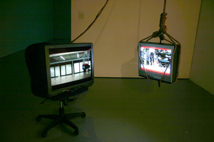 Jim Prevett &#038; McArthur, A Song for No Man,<BR /> Video installation, Thailand / UK, 2004&#8243;></p> <p class=