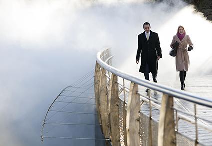 Fog Bridge, Fujiko Nakaya, image courtesy of InBetweenTime Festival, Bristol UK