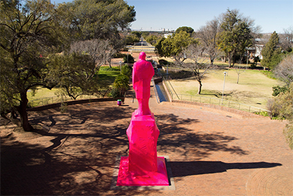 Cigdem Aydemir, documentation of Plastic Presidents at Vryfees in South Africa