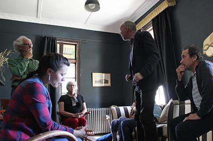 Uncle Vanya, actors and audience, Watford House