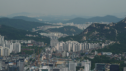 Seoul viewed to north from the N-Seoul Tower