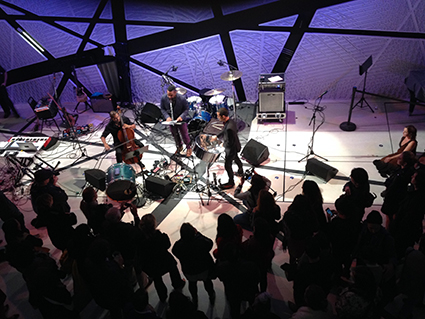 Jeffrey Zeigler (cello) Andy Akiho (steel drum/ composer) & Roger Bonair-Agard (Beat poet), Opening Night, National Sawdust