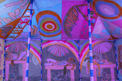 Francesco Clemente, Angels' Tent 2013 (detail)