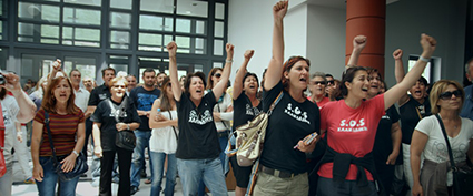 Protesters against gold mine in Halkidiki, Greece. Still from