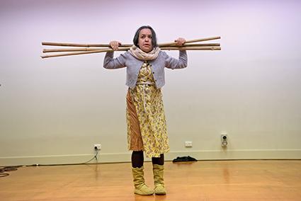 Canadian artist Michelle Olsen performing at Dana Waranara
