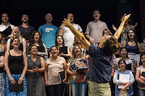 Catherine McClements and choir members, The Events, Sydney Festival, 2016