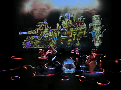Zephyr Quartet, Exquisite Corpse with animations by Jo Kerlogue and Luku Kukuku, Adelaide Festival 2016