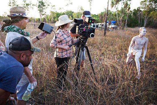 Film shoot featuring cinematographer Bonnie Elliott