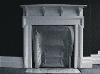 Draw (fireplace), 2005, video still, Anna Barriball (UK)