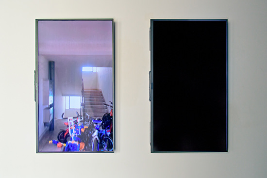 "Taeyoon Kim, ""1204"" two-channel video, random loop, colour, no audio, 2014, MAAP,"