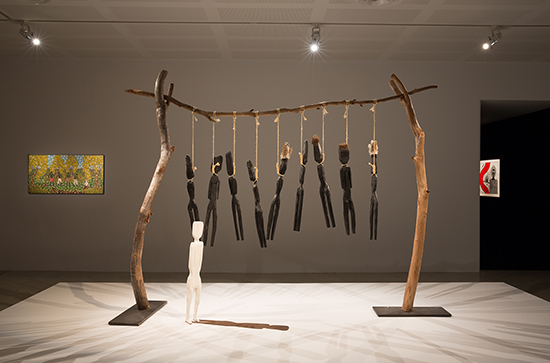 Fiona Foley, Annihilation of the Blacks, 1986, courtesy National Museum of Australia