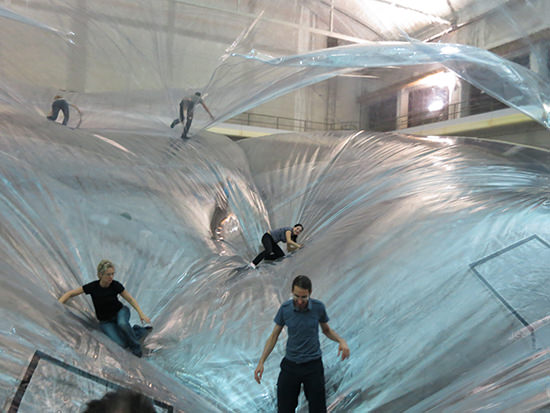 On Space Time Foam, Tomás Saraceno, 2015 installation