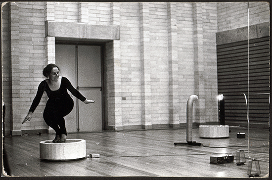 Philippa Cullen rehearsal Homage to Theremin II, NSW Conservatorium of Music 1972