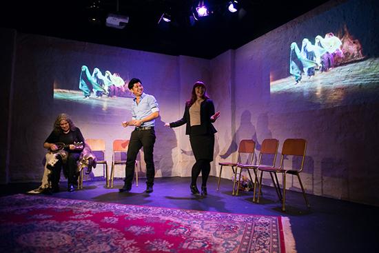 L-R: Rhonda Grovenor Dixon, Mahdi Mohammadi, Katie Green, Tribunal, Powerhouse Youth and Griffin Theatre