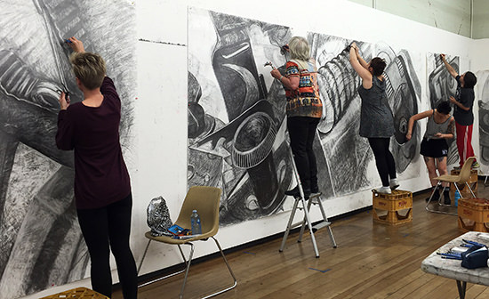 Level 2 Large Drawing Class, Adelaide Central School of Art