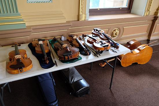 Instruments awaiting Argonaut Quartet, Glossolalia, BIFEM 2016
