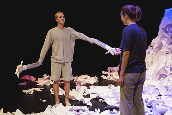 ACA students Lachlan Scown, Evie Leonard in Dreamers, 3D'15
