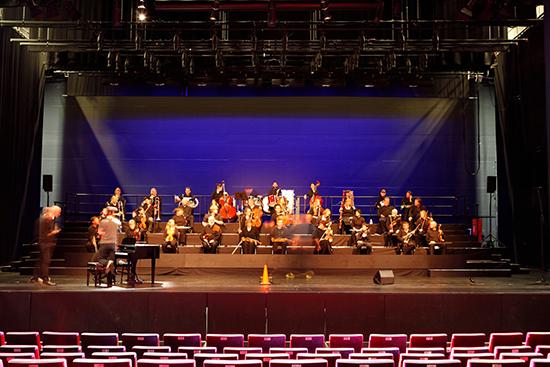 Rehearsal, Bendigo Symphony Orchestra & Peter Dumsday (piano) pho:ton, BIFEM 2016