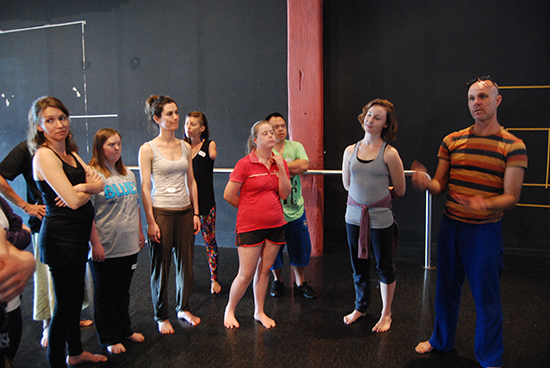 Dean Walsh and artist participants, Catalyst Dance Masterclass Series, 2012