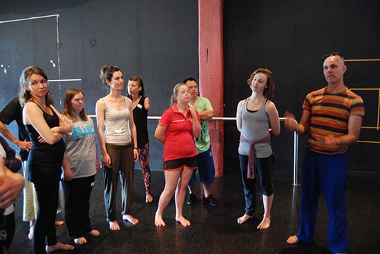 Dean Walsh and artist participants, Catalyst Dance Masterclass Series, 2012