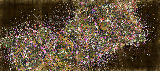 Ever Blossoming Life—A whole year per hour, Gold (2016), teamLab