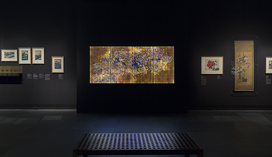 Installation view, Ever Blossoming Life, teamLab