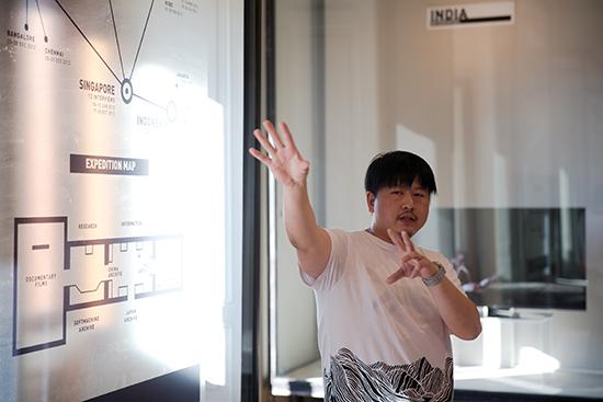 Choy Ka Fai at SoftMachine exhibition InPulsTanz 2015
