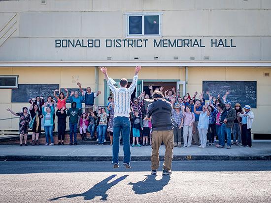 Community participants, Bonnywood Rising, Grayson Cooke, Bonalbo District Hall