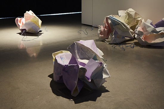 Ella Barclay, I Had To Do It, Greeting Programs (best left unsaid), installation view, UTS Gallery