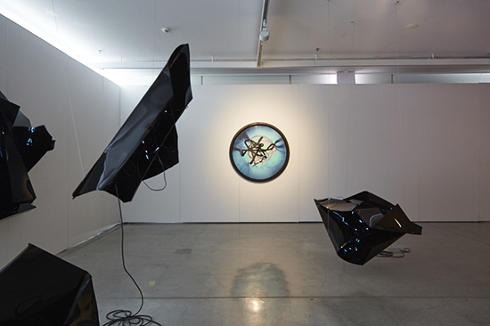 Ella Barclay, I Had To Do It, Mystic Heuristics (foreground), installation view, UTS Gallery