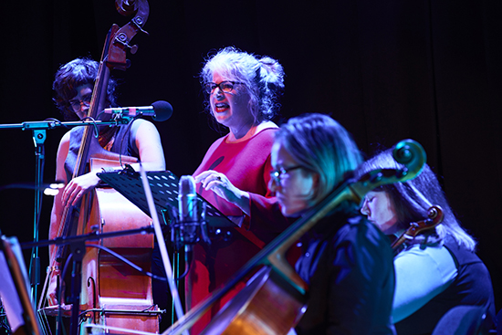 berni m janssen (centre) and members of BOLT ensemble, Windspoken, The Book of Daughters, JOLT Arts