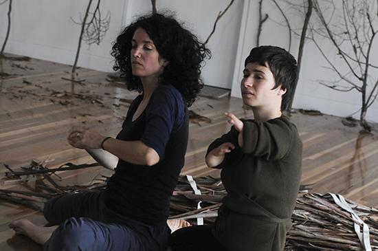 Elizabeth Ryan, Dana Nance, Bundanon residency, Dean Walsh with Restless Dance Theatre, 2012, Stage 1 development of True to Nature