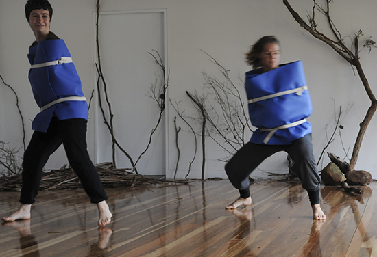 Dana Nance, Miranda Wheen, Bundanon residency, Dean Walsh with Restless Dance Theatre, 2012, Stage 1 development of True to Nature